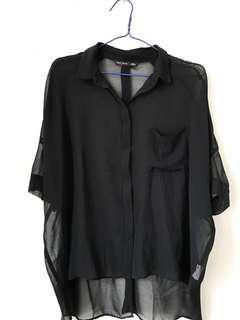 Black Batwing Shirt / Kemeja
