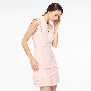 Sandro Honeycomb Fabric Sleeveless Dress