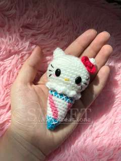 Crochet Sanrio Hello Kitty Ice Cream Doll