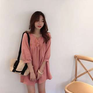 [PO] Pink Korean Babydoll Dress