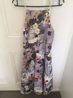 Boohoo Lilac Flower Print Dress