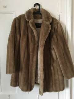 Faux fur jacket - flawless condition