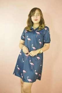 Korean Flamingo Polo Dress