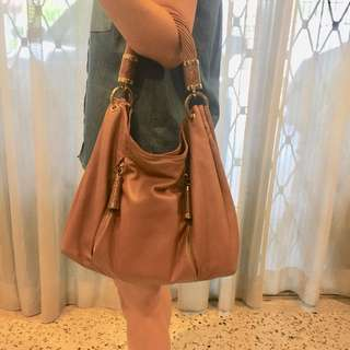 Chic Michael Kors leather hobo bag