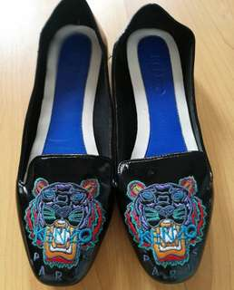 Kenzo 10mm Patent Leather Tiger Loafers in Black
