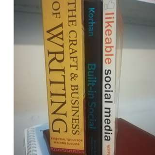 1 Set of Books on WRITING and SOCIAL MEDIA (Used - Good Condition)