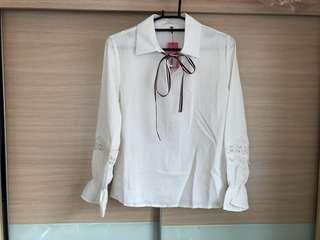 🚚 🔥免運🔥全新白色縮口袖上衣