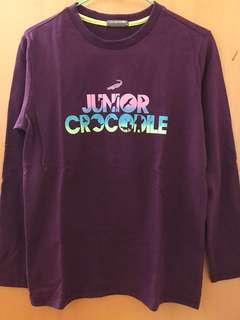 🚚 Crocodile Junior -酒紅色長袖全棉T恤 14