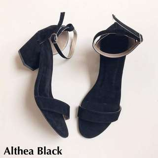 Althea Block Heels - Black - Sizes 5 & 9