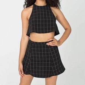 American Apparel Grid Set (Lulu Skirt & Top)