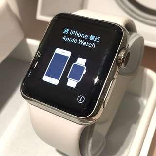 Apple Watch 頂級 智能手錶 第一袋 不銹鋼 38mm 銀色 有盒全套
