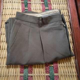 B182 Celana Panjang Formal Kerja Stripes Pria Size 36 Brown