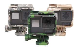 Gopro hero 4/5/6 action cam 迷彩保護框 case