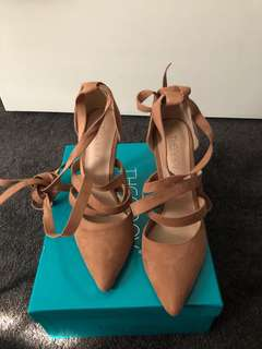 Tan Wrap High Heels