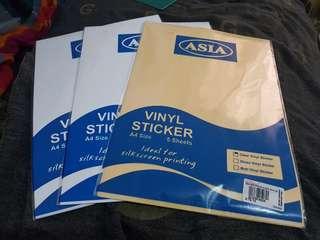 Vinyl sticker paper
