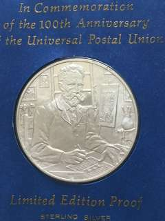 USA Sterling Silver Medallion & Commemorative FDC 1974