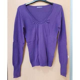Terranova Purple Light Knit Top