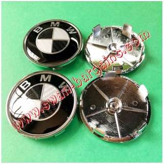 4pcs BMW Carbon Fiber CF Design Emblem Logo Badge Sports Wheel Rim Center Hub Cap 68mm Cap Cover