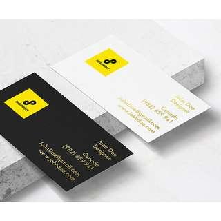 Namecards Artcard 260gsm 2-Side Colour Print (1box/100pcs)