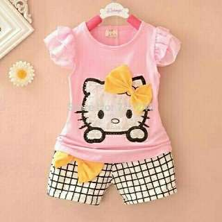 Cute Set Kiddos Kitty Pink fit 2-3th