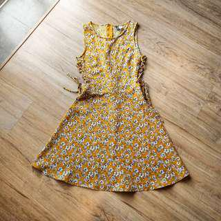 H&M yellow sundress