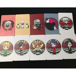 Tokyo Ghoul set of 10 matte ezlink card stickers #02