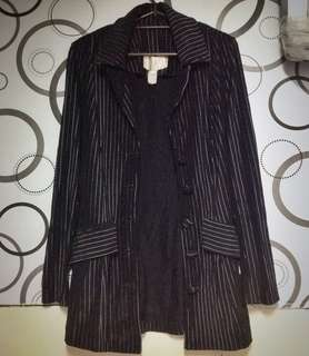Formal Blazer Coat B&W Stripes