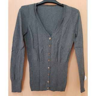 Zara Grey V-Neck Cardigan