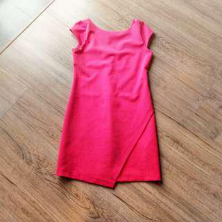 Zara pink work dress