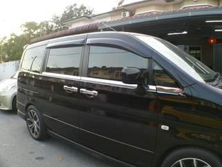 Nissan Serena C24 Chrome Window Trim