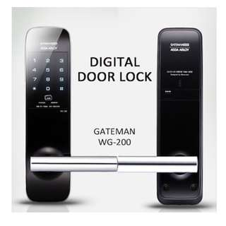 *GSS Sales* - Gateman WG-200 PIN and Card SLIM Digital Door Lock