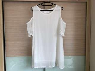 🚚 🔥免運🔥全新白色露肩雪紡洋裝