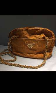 Prada vintage gold chain