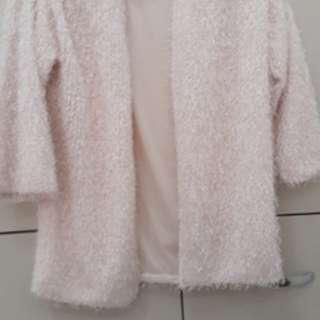 H & M Off-White Jacket (Furry like)