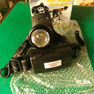 T6 機械式頭燈(白光、三段) 【不含電池、直充線】