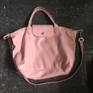 Leather longchamp