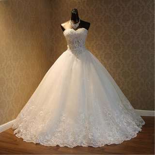 Wedding Collection - Shining Crystal Tube Style Puffy Wedding Gown
