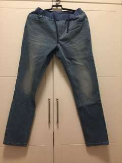 Korea Style Long Trousers Soft Jeans