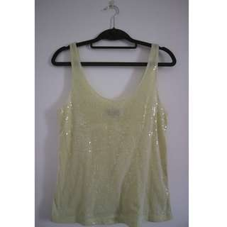 Topshop Sequinned Top