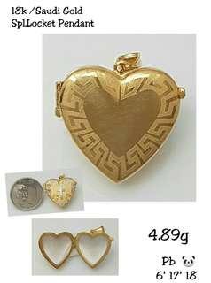 For sale gold locket pendant