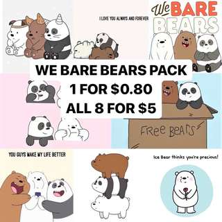 [BARE BEARS] LAPTOP STICKERS PACK