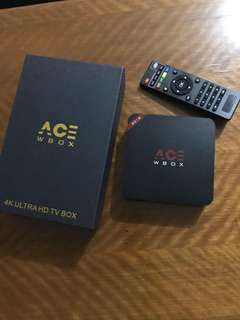 ACE W BOX 4K ULTRA HD TV BOX (2018)