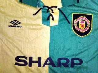 Manchester United Jersey vintage authentic 90s resize m