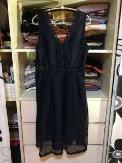 Valentino Dark Blue Dress