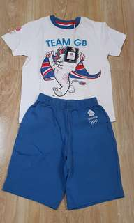 Team GB ( Great Britain) shirt and shorts set 3.to 4 years old