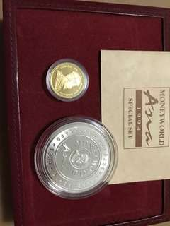 Singapore moneyworld gold and silver proof set