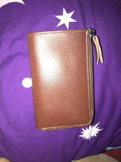 Leather key holder wallet