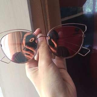 kacamata gold pink
