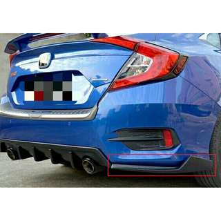 Honda Civic FC Rear Bumper Side Diffuser Lip Lips