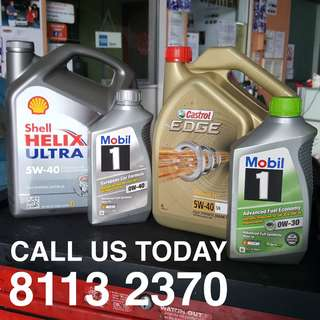 **SALES! **Asian Car Shell Helix 5W40 / Mobil 1 0W30/40 / Castrol Edge 5W40 Servicing Promotion